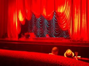curtains at Zarkana
